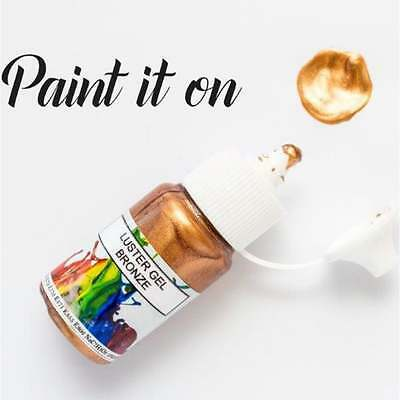 Rolkem Super Bronze - Gel Lustre Edible Paint