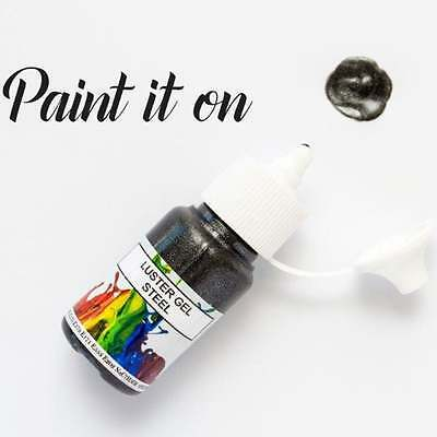 Rolkem Steel - Gel Lustre Edible Paint