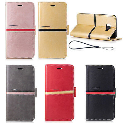 2017 Luxury Premium PU Leather Wallet Case Cover For Samsung Galaxy Models