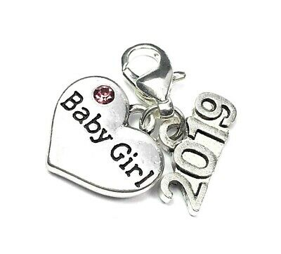 Baby Girl 2018 Clip On Charm - 3 Different Gift Options - FREE PP