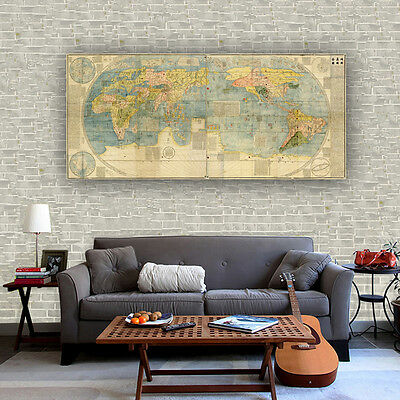 Fabric canvas poster vintage pirate treasure world map bar cafe wall fabric canvas poster vintage universal geographic world map bar cafe decor s03 gumiabroncs Images
