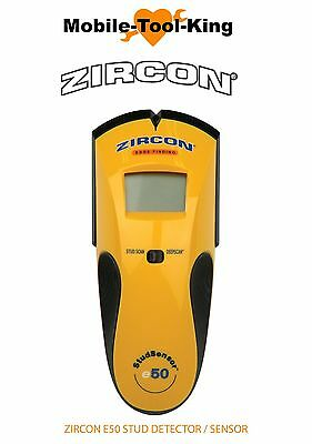 ZIRCON E50 Wood/Metal Live Wire Wall Stud Joist Finder Detector Sensor ZIRZ63969