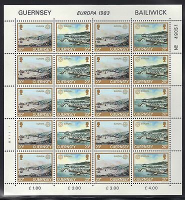 Great Britian - Guernsey Mnh Europa 1983 Full Sheets Of 10
