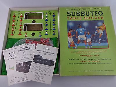 Vintage Subbuteo Continental Club Edition Football Set Boxed