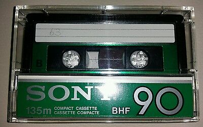 10 SONY BHF 90 Audio tapes 1982 year