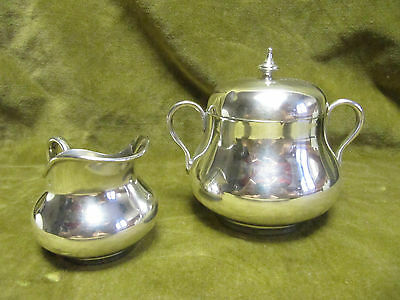 early 20th c french sterling silver (950) sugar bowl & creamer (for2) Tetard