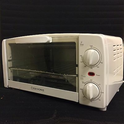 Cookworks KWS1009J White Counter Top Multi Use Household Toaster Oven Mini Grill