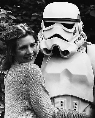 Carrie Fisher 64 With Storm Trooper (Princess Leila Star Wars) Photo Print