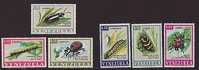 Venezuela 1968 MNH - Insects - set of 6 stamps