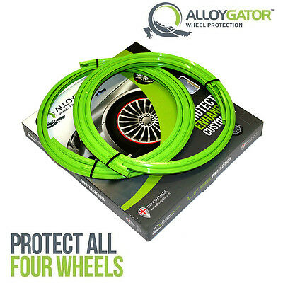Alloygator Alloy Wheel Rim Protection System Set Of 4 In Green