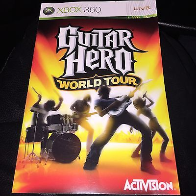 MANUAL FOR Guitar Hero World Tour xbox 360 NO GAME DISC INCLUDED