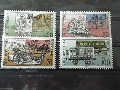 Série 4 timbres neuf Allemagne DDR 1990 : Relations postale - Transports postaux