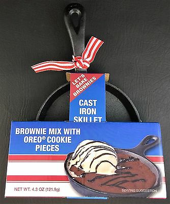 Mini Cast Iron Skillet with Brownie Mix