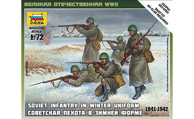 Zvezda - Soviet infantry in winter uniform - 1:72