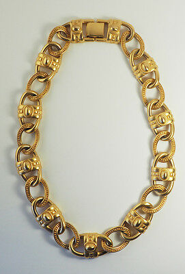 Vintage bold Givenchy gold tone statement necklace