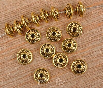 100pcs Tibetan Silver Antique gold loose beads spacer bead 6x3mm  FA3457
