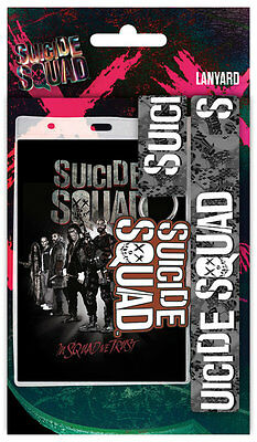 SUICIDE SQUAD Lanyard, NEW CARDED BAGGED Official Licensed Product
