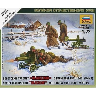 "Zvezda - Soviet machine gun ""maxim"" with crew  - 1:72"