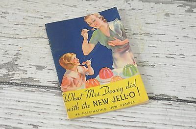 Vintage 1933 Jello Advertising Recipe Cookbook