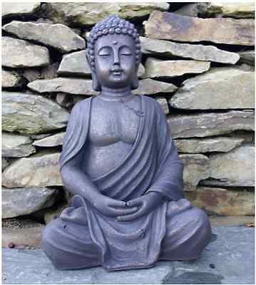 Large Garden Buddha Statue Stone Effect Outdoor Indoor Decorations Statues NEW