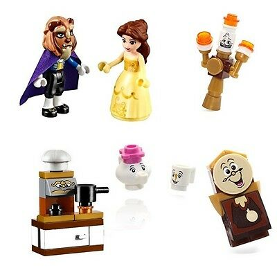 Beauty and the Beast Custom Minifigures, Including: Belle, Beast  - Fits Lego
