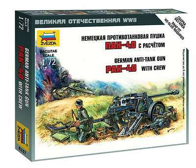 Zvezda - German anti-tank gun PAK-40 with crew  - 1:72