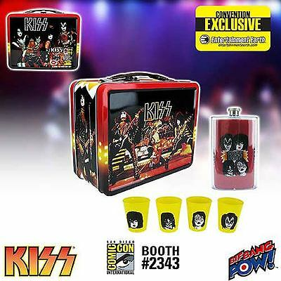 Kiss Alive Lunchbox ComicCon Exclusive w/ Flask and Shotglasses. Hand Numbered