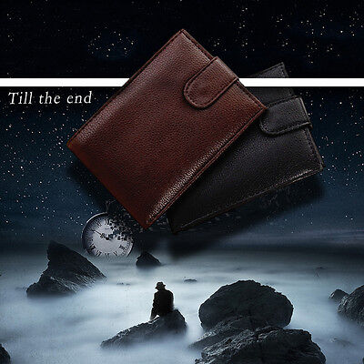Mens Leather Bifold Wallet ID Credit Card Holder Ultra Slim Coin Purse Bag Gift