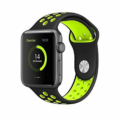 Apple Watch Band Series 1 & 2 Silicone Bracelet Sport Durable Unique 42mm Strap