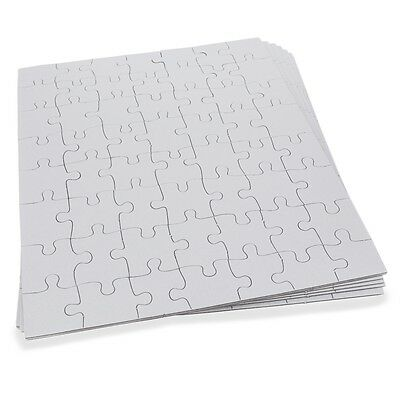 """Set of Six White Blank 10"""" x 8"""" Create a Jigsaw Puzzle Sheets"""