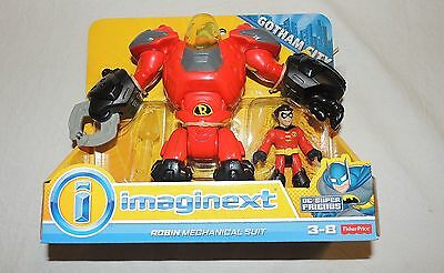New Fisher Price Imaginext Robin Robot, DC Comics Mechanical Suit  Batman