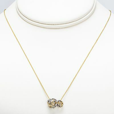 "New H. Stern Copernicus Necklace 18k Noble Yellow Gold 18"" Chain 0.17ct Diamonds"