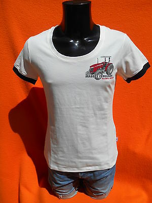 MASSEY FERGUSON T Shirt Global Series Tractor Tracteur 35 135 1155 Ladie Femme