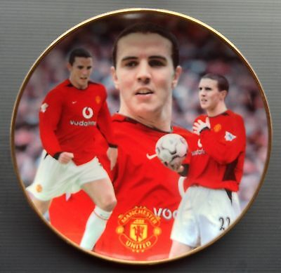 John O'Shea Man Utd Danbury Mint Plate COA and Box Manchester United