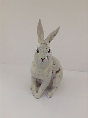 "Hase ""Antik"" (14,5 cm/Blick links,creme-weiß ; Ostern, Osterhase, shabby chic)"