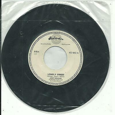 7'Andy Williams   Lonely Street/Summer Love   HELIODOR PROMO Germany