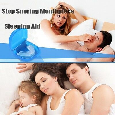 New Anti Snore Snoring Mouth Guard Device Sleep Aid Stop Apnoea Stop Snoring Uk