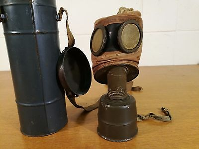 WW2 Gas Mask.C 38 French Fernez. All Original with Canister.