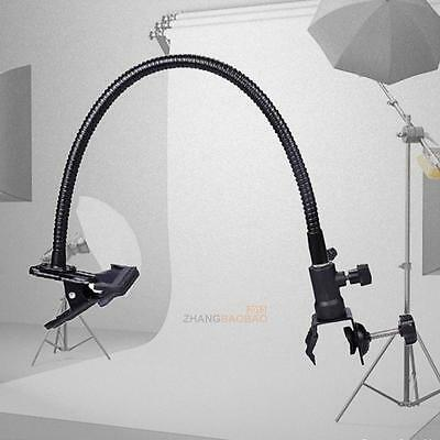 Photo Studio Light Stand Background Holder C Clamp Clip Flex Arm Reflector New