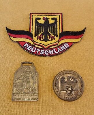 Lot of 3 Military East German Medal Pin Patch Deutschland Germany Pins Medals