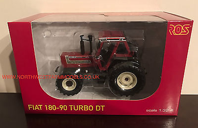 Ros 1/32 Scale Fiat 180-90 Turbo Dt Model Tractor *dealer Box* (Mib)