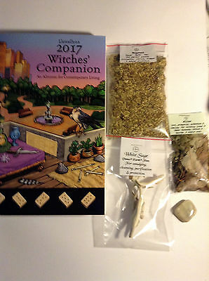 WITCHES COMPANION 2017 Llewellyn's MUGWORT Willow White Sage LOT Wicca Pagan