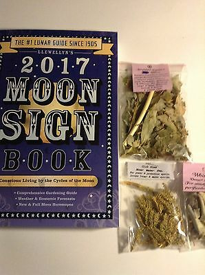 2017 MOON SIGN Llewellyn's Equinox Willow White Sage Club Moss LOT Wicca Pagan