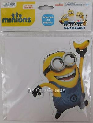 Despicable Me Minion Movie Powered By Bananas Car Magnet Refrigerator New