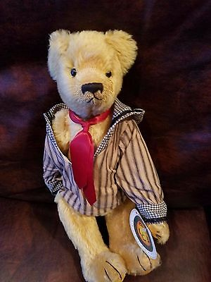 "Sailor 14"" Effanbee Bear by Bear Essentials  Fully Jointed suede paws Mohair"