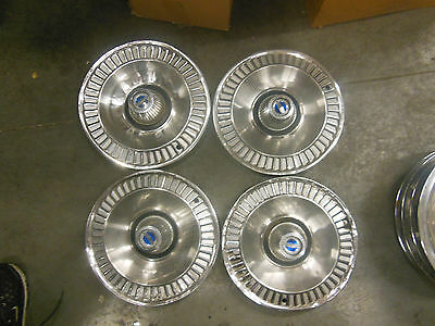 "1964 Ford Galaxie Hubcap 0-13   Passenger 14""  used vintage #AM Set Of 4 #0-13"