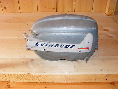 AH1C3514 1950's Vintage Evinrude Aquasonic Fastwin 15 Outboard Cowl Hood