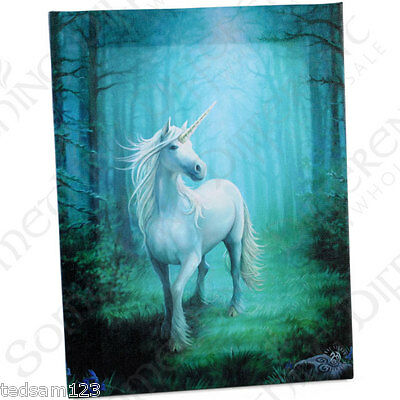 Stunning   ' Forest Unicorn Canvas '   -  By Anne Stokes   -   Brand New