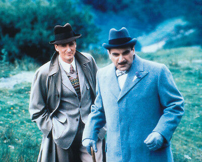David Suchet and Hugh Fraser UNSIGNED photo - H2219 - Poirot