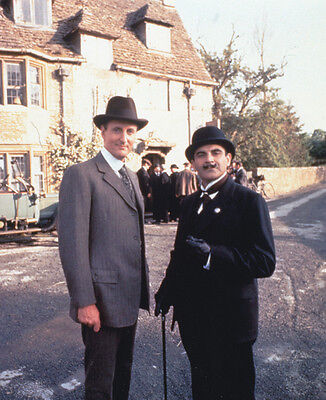 David Suchet and Hugh Fraser UNSIGNED photo - H2220 - Poirot